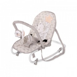Шезлонг Lorelli Rock Star Light grey elephant